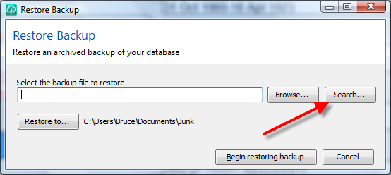 Restore Backup