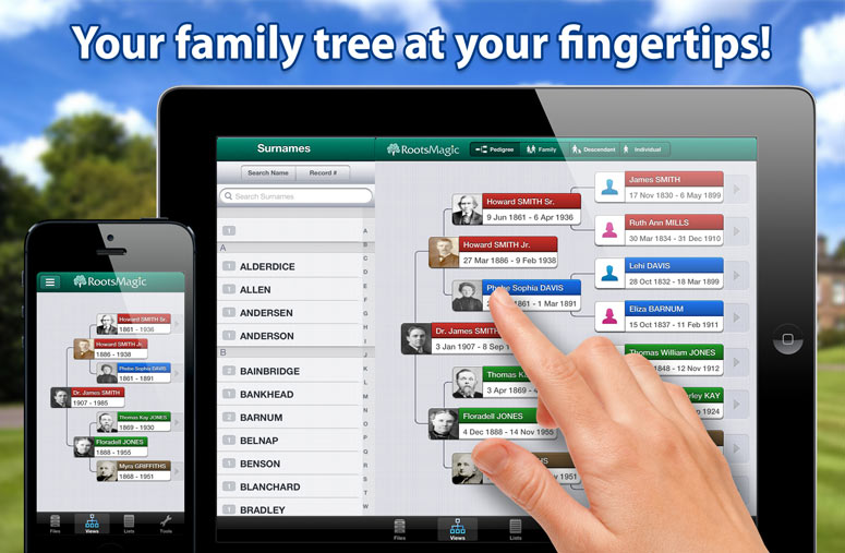 Your family tree at your fingertips!