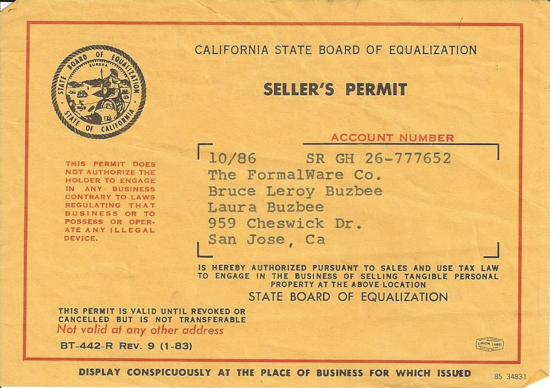 Sellers Permit Number Which Is The Number Pictures To Pin
